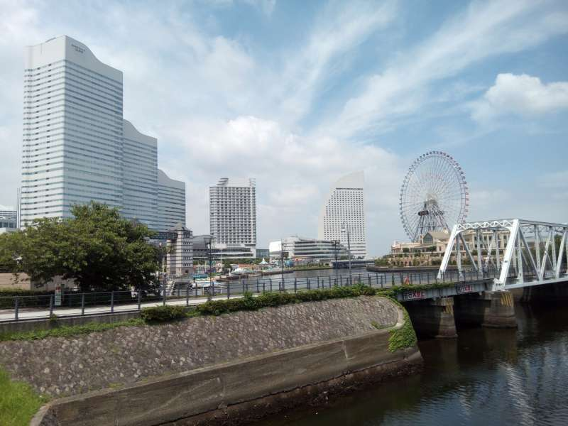 Minato Mirai area. This area which was reclaimed from the sea has been developed to a business center as well as a shopping center. Nissan has the head office here in this area. Apple is expected to open an office here.