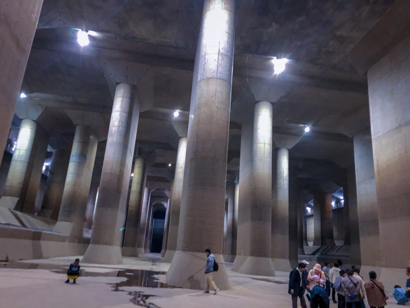 Inside The Metropolitan Area Outer Underground Discharge Channel that Prevents floods in Tokyo Area