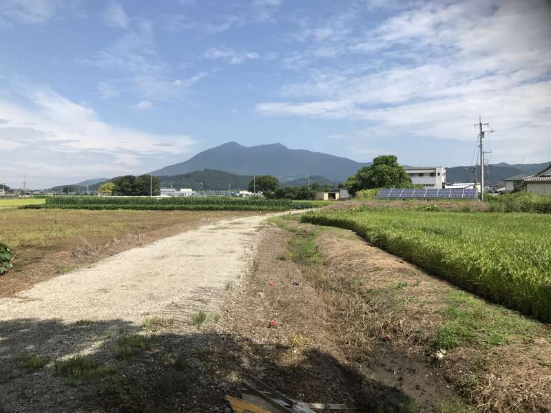 This is the view of Mt. Tsukuba from my  house.