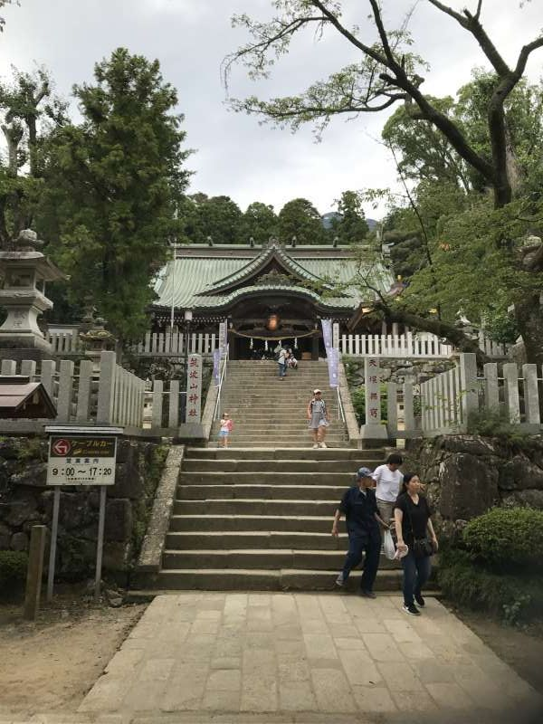 This is Mt. Tsukuba shrine near the cable car station.