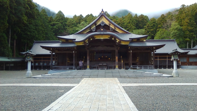 Japanese Royal Family related Yahiko Shinto shrine.