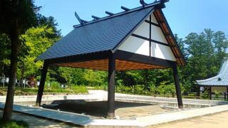 Sumo rink in the precinct.