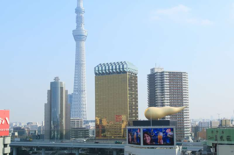 Tokyo sky tree  view  from Asakusa area