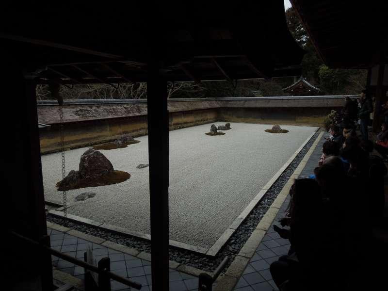El templo de Ryouan-ji, el jardín de piedra se conoce como el mundo de