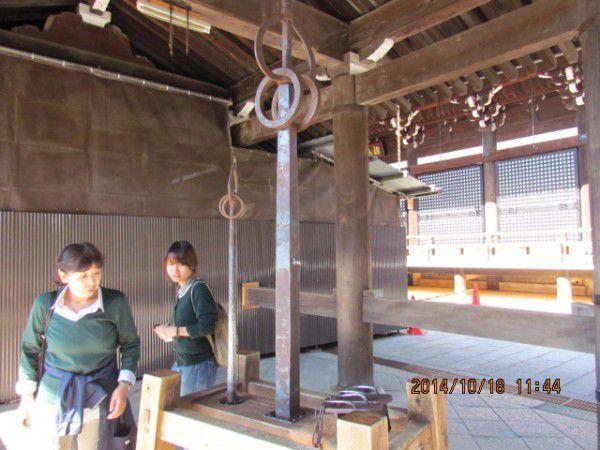 Benkei's nail-mark at Kiyomizu Temple