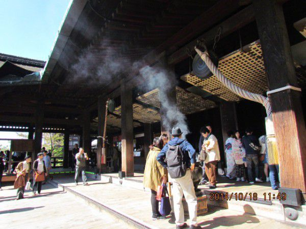 The stage of Kiyomizu Temple.