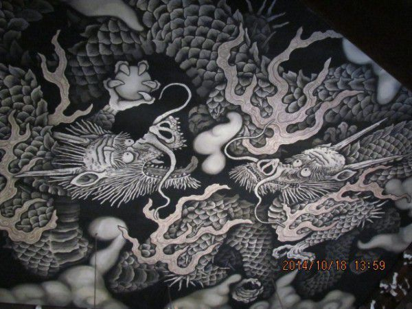 The ceiling painting of