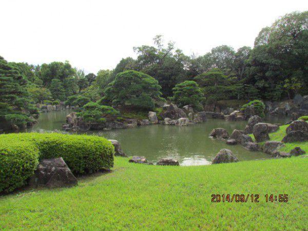 Japanese garden at Nijo Castle