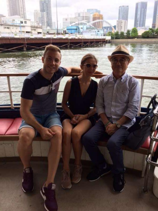 At Sumida River cruising