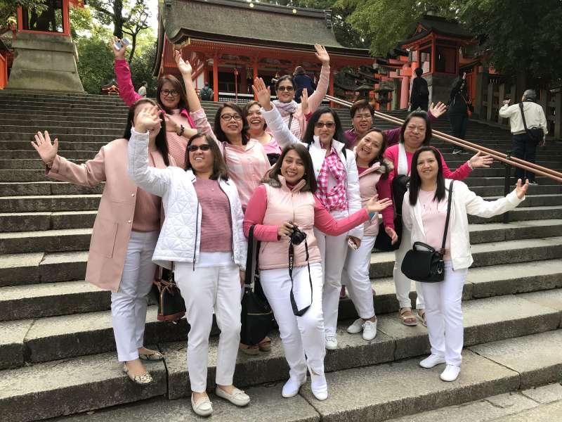 God bles you, ladies, at Fushimi-Inari shrine, Kyoto city, Kyoto