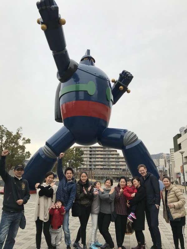A 15-meter-tall Tetsujin 28 (Gigator), Nagata Ward, Kobe City, Kobe