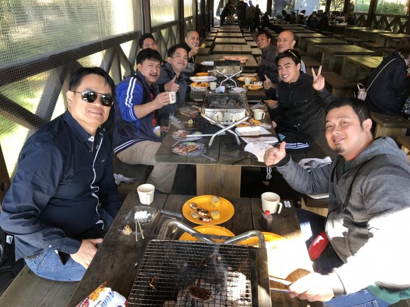 BBQ party at Mt Rokko Country House, Kobe