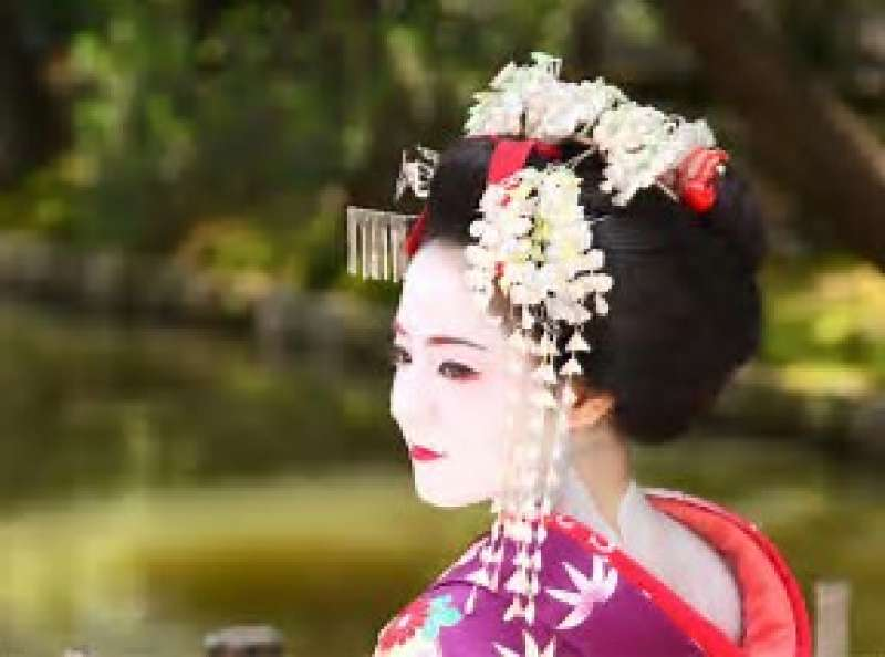 If you are lucky, you may catch a glimpse of maiko.