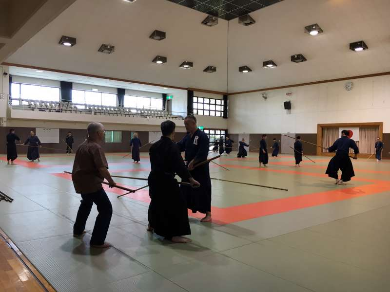 practice for the Hozoin-Ryu spearmanship