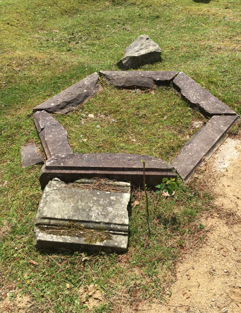 remains of well at Old Hozoin Temple