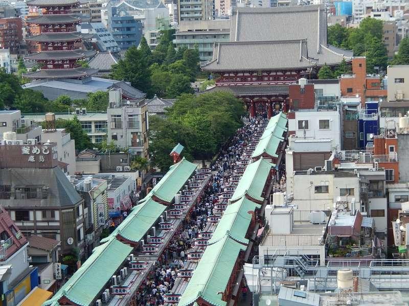 Nakamise shopping street in Asakusa