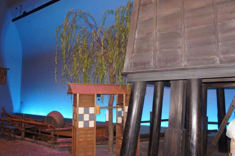 Wachturm und ein tragbarer Soba Verkaufsstand