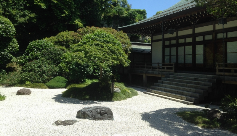 Zen garden at the Bamboo temple (C1).