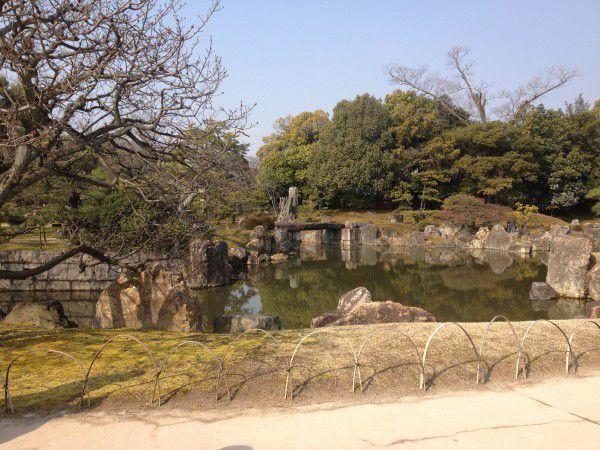 Japanese garden of Nijo castle