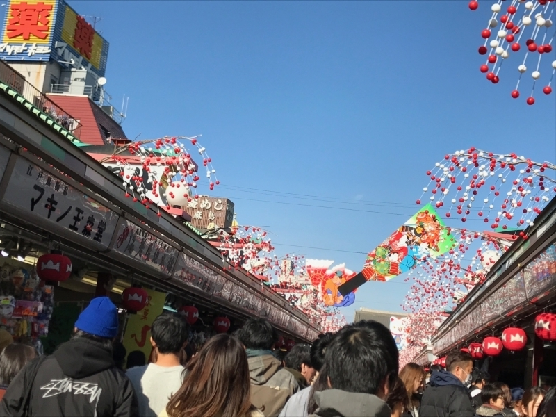 Asakusa Nakamise dori, Displays of the street are changed according to the season