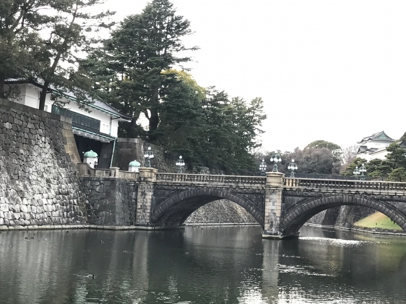 Nijyubashi bridge, the entrance of the Palace, The view here is very beautiful