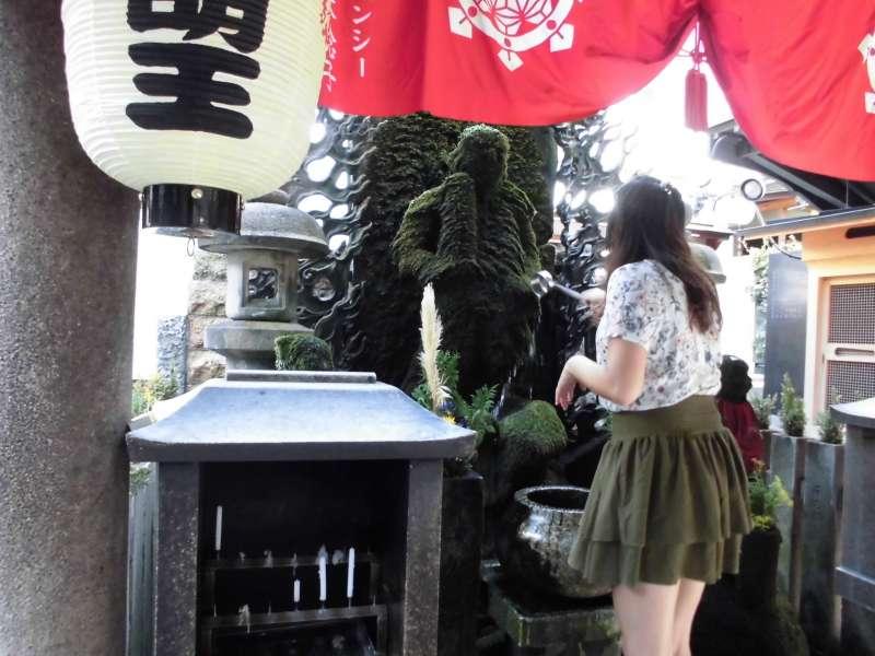 Hozenji Temple at Dotonbori