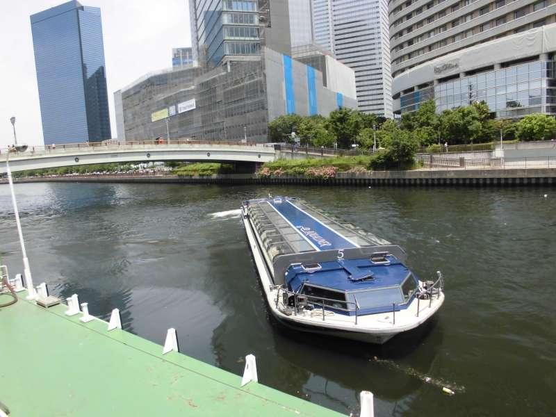 Osaka river cruise: One hour cruise @1700 yen (Optional tour item)