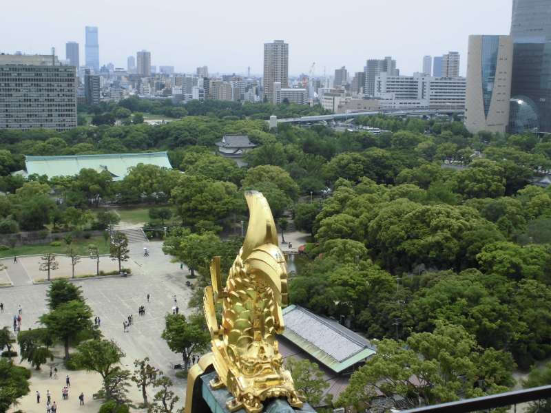 Osaka castle: View from the castle tower