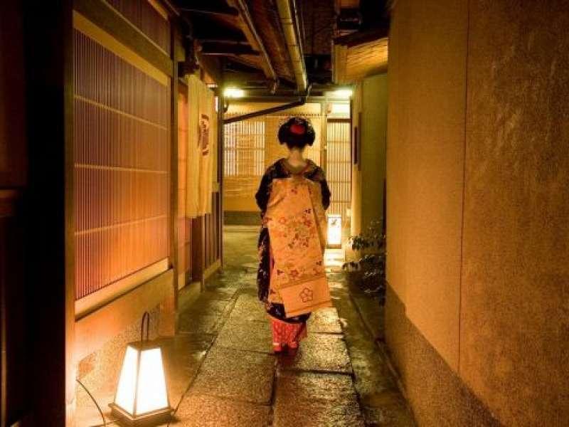 The area where maiko and geisha culture prevail