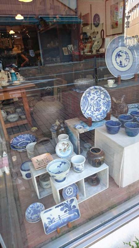 This shop is specializing in the pottery.