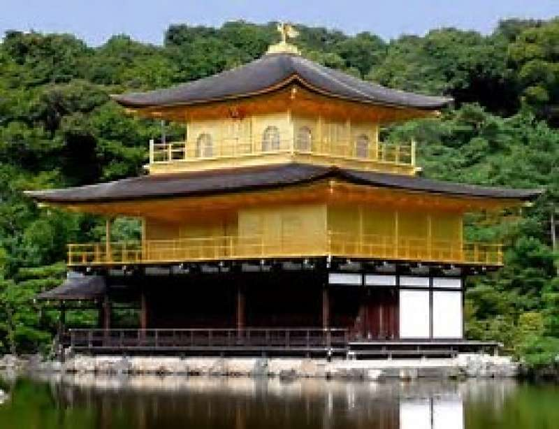 The dazzling light of Kinkakuji Temple