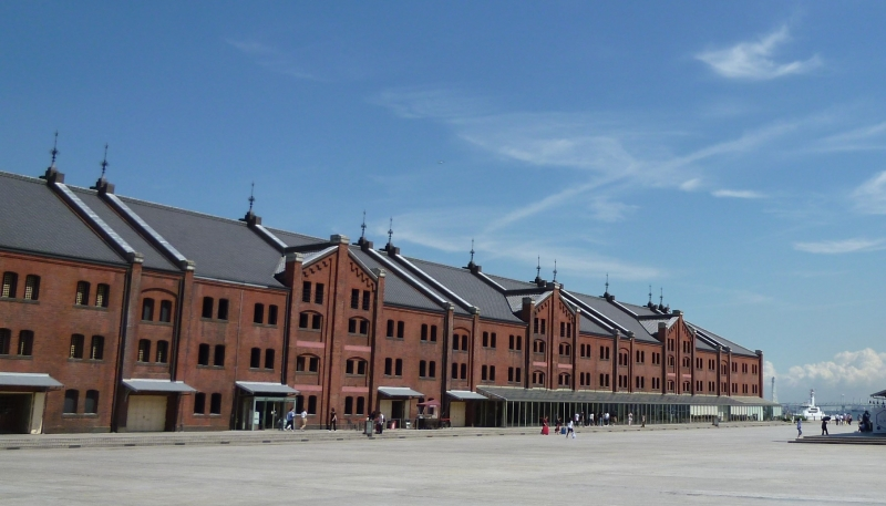 Centuries-old red brick warehouses. Now being used as shops and restaurants (#3)