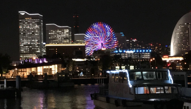 Night view of the Yokohama downtown area from the international ferry terminal (#7)