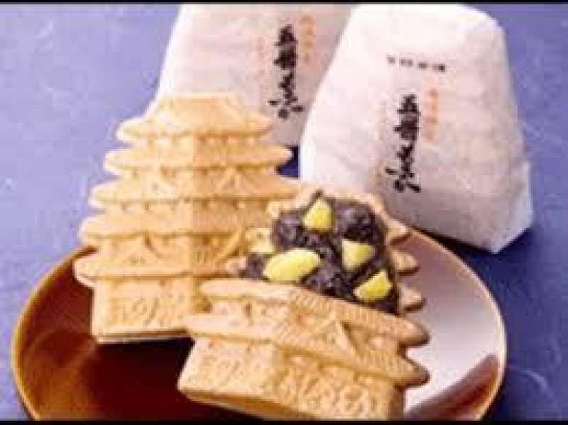 Dulce de Himeji, en forma de su castillo