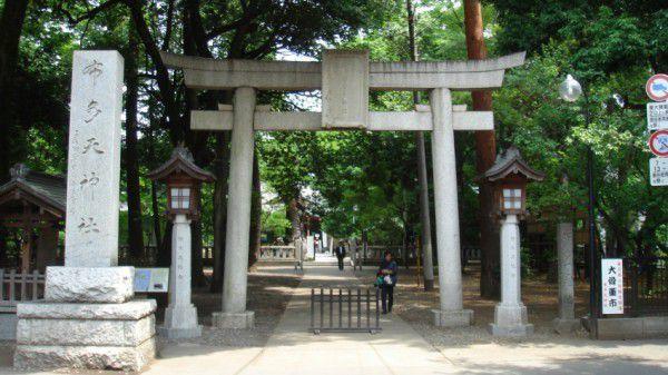 Sacred Fudaten Shrine hidden behind the greenery