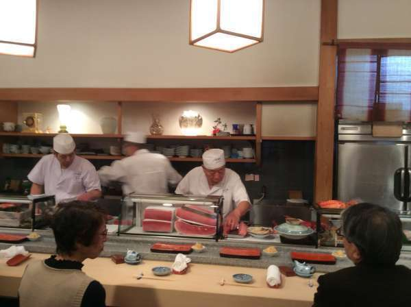 You can order Sushi over the counter one by one, if you like.