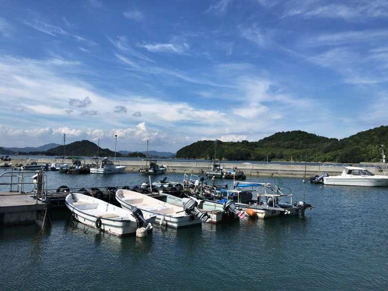 Naoshima Port in Honmura area