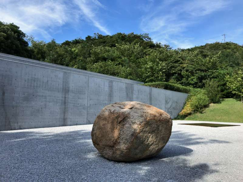 Lee Ufan Museum, tucked in nature of Naoshima