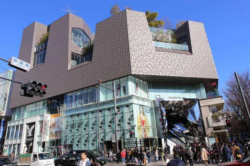One of the Omotesando designer buildings
