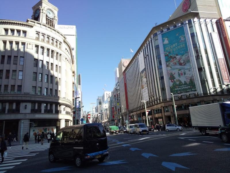 Ginza  high end shopping street