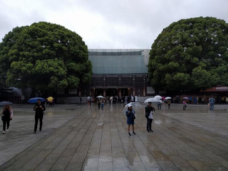 The main hall of Meiji shrine. Meiji shrine is one of the biggest shrine in Japan.