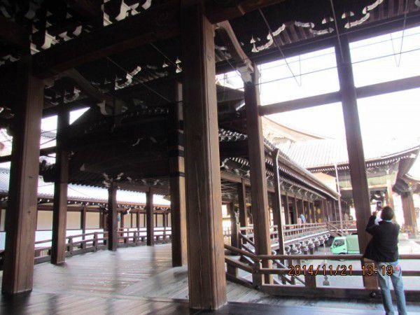 Amida-do viewed from Goeido at Nishi Hionganji Temple