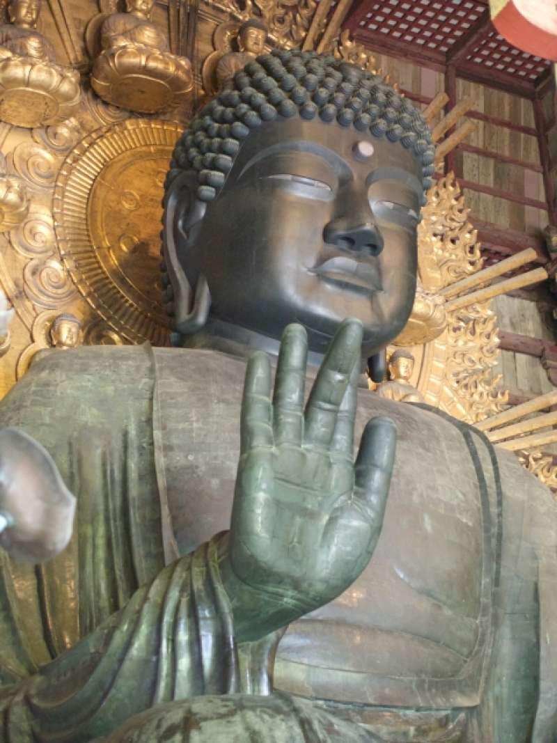 The largest bronze statues of Buddha (Daibutsu) at Todaiji Temple