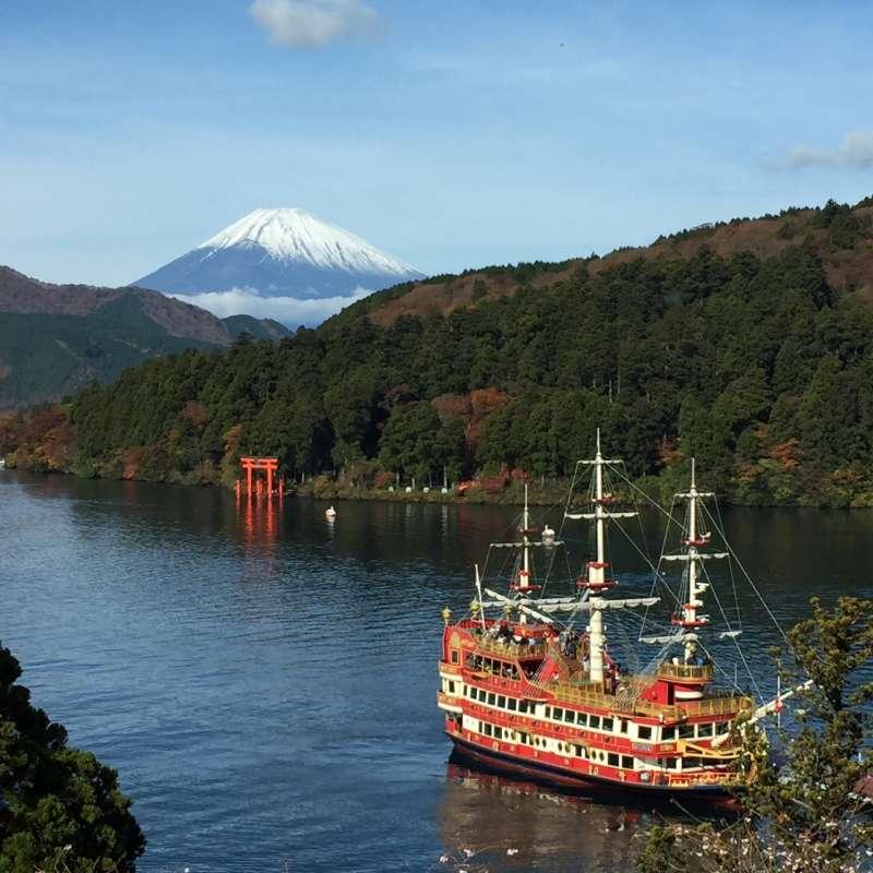 Pleasure boat in Ashino, sightseeing arround about 60min