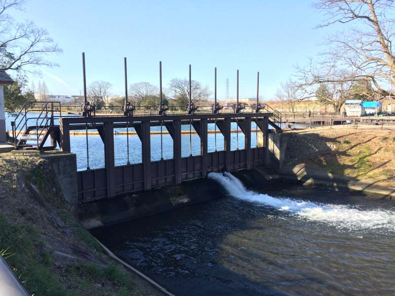 Nakajima Lock. The first site which was designated as Important Cultural Property.
