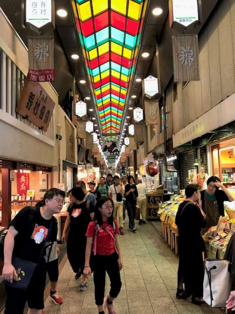 Nishiki food arcade is in a heart of Kyoto. In about 500 shops are observed a wide variety of cooking ingredients like local vegetables,fruits, sweets, green tea even Takoyaki. Your appetite is Irresistible.