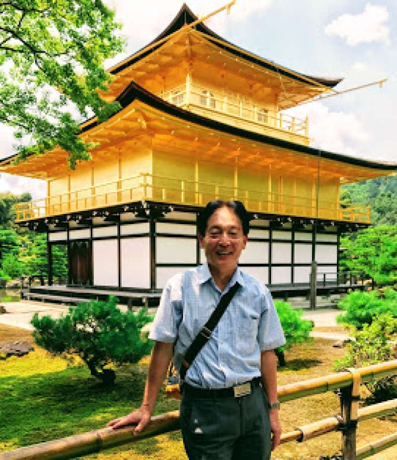 Golden temple, one of the World cultural heritage in Kyoto, the must-see place. Landscape style beautiful garden surround stunning three-story-building gilt with 20 kilogram real gold.