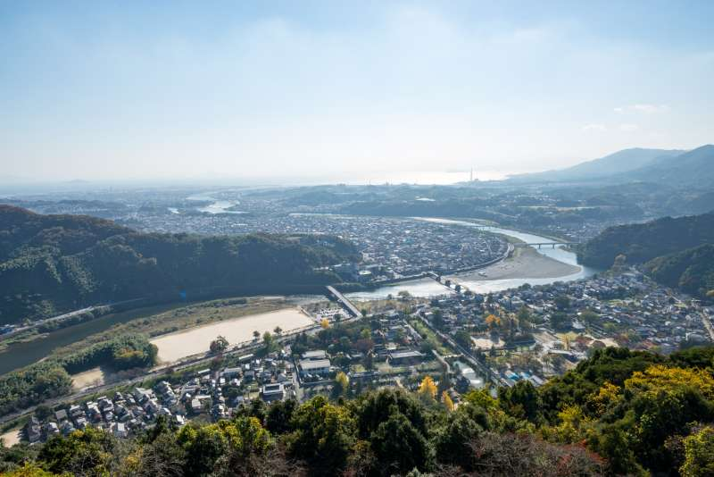 viewing from Iwakuni Castle