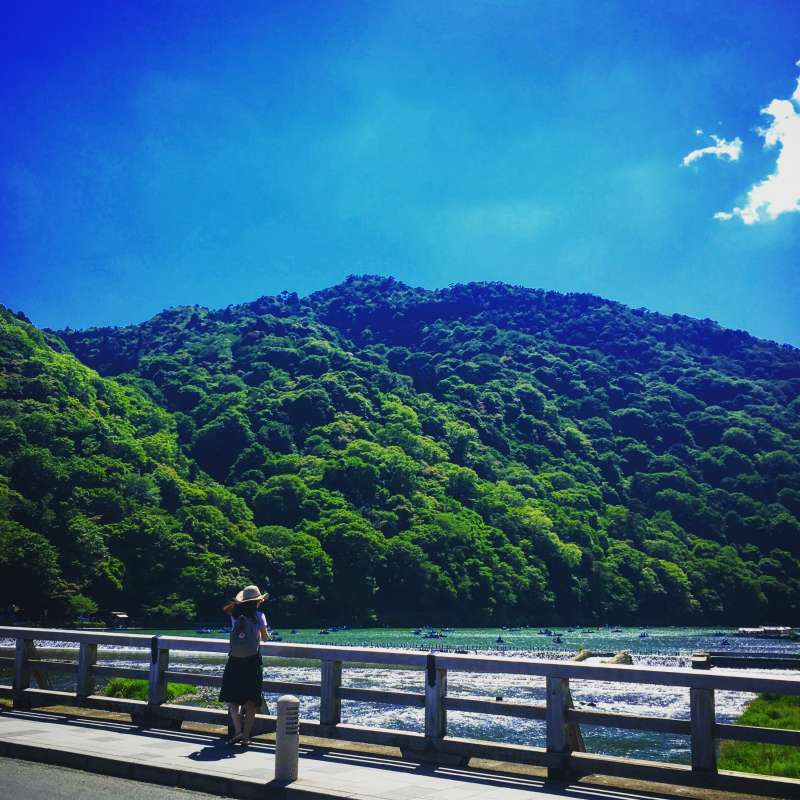 The scenery of Togetsukyo bridge is so beautiful ..!