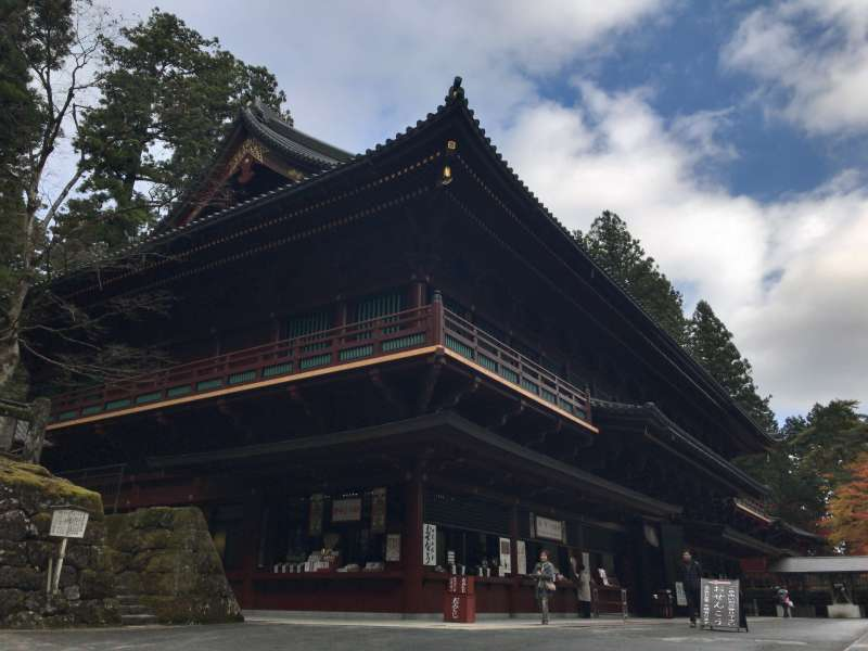 Goma-doh, a building where a religious ritual is held in Rinno-ji Temple.